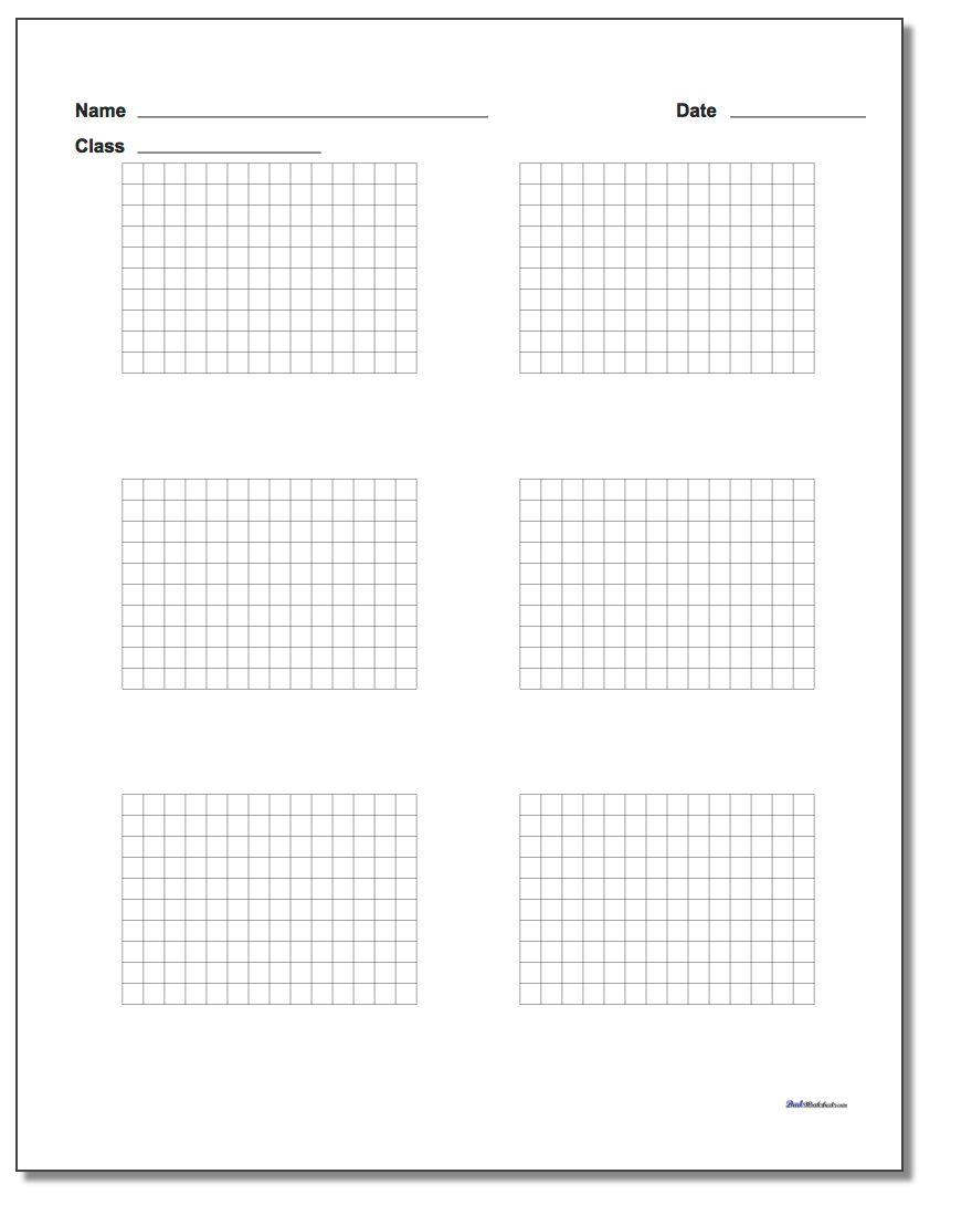 Six Problem Coordinate Plane Worksheet Paper www.dadsworksheets.com/worksheets/graph-paper.html