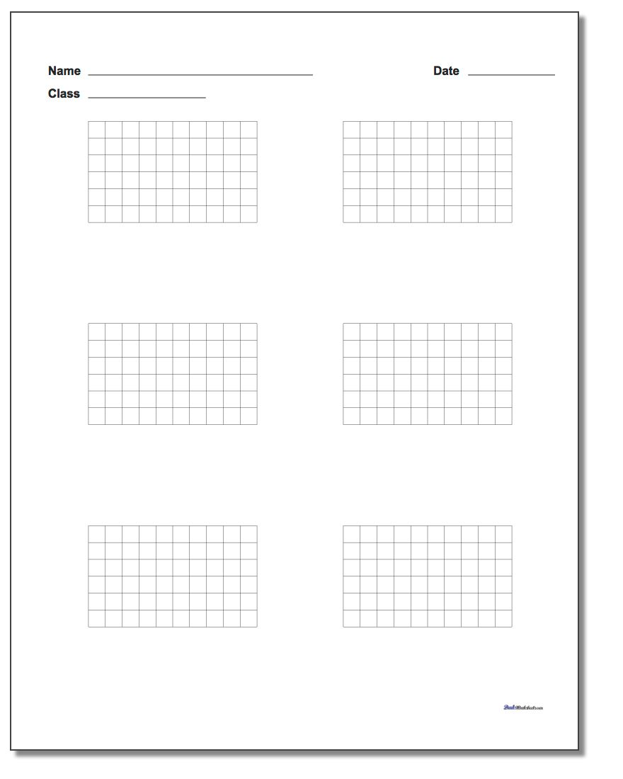 Graph Paper Six Problem Coordinate Plane Worksheet