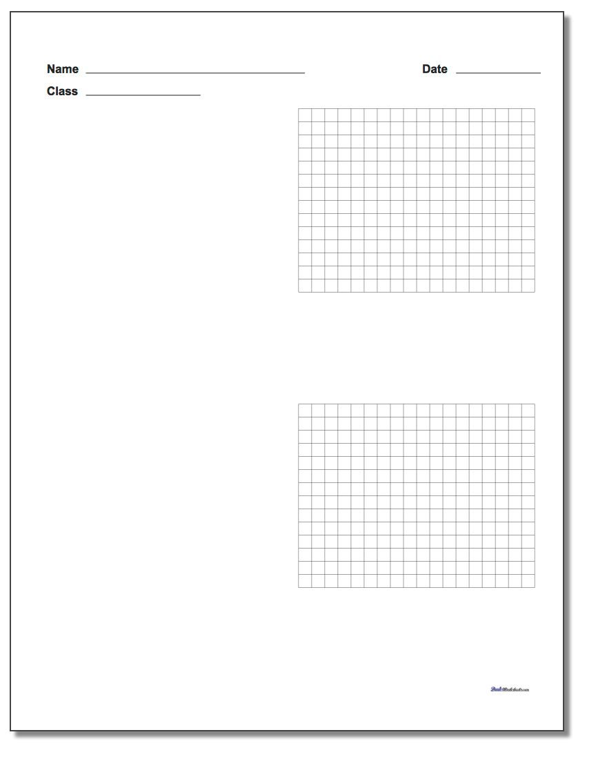 Two Problem Coordinate Plane Worksheet Paper www.dadsworksheets.com/worksheets/graph-paper.html