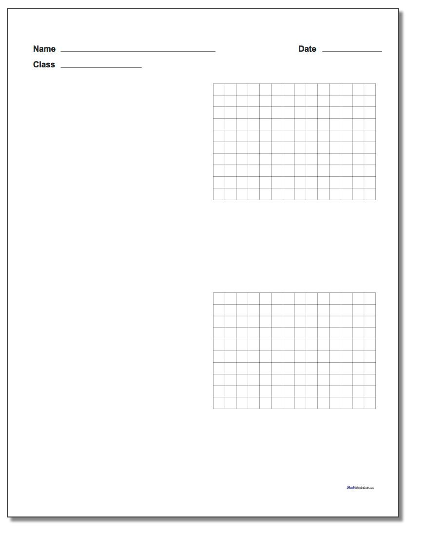 Graph Paper Two Problem Coordinate Plane Worksheet