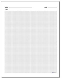 Plain Metric Graph Paper