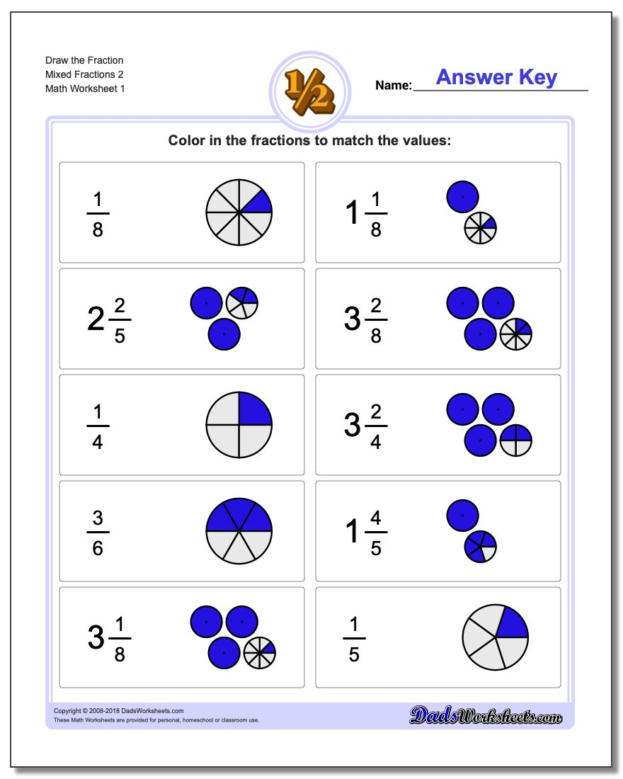 Uncategorized Simple Fraction Worksheets draw simple fractions graphic fraction worksheets the mixed 2