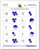 Draw the Fraction Worksheet Mixed Fractions 2 www.dadsworksheets.com/worksheets/graphic-fractions.html