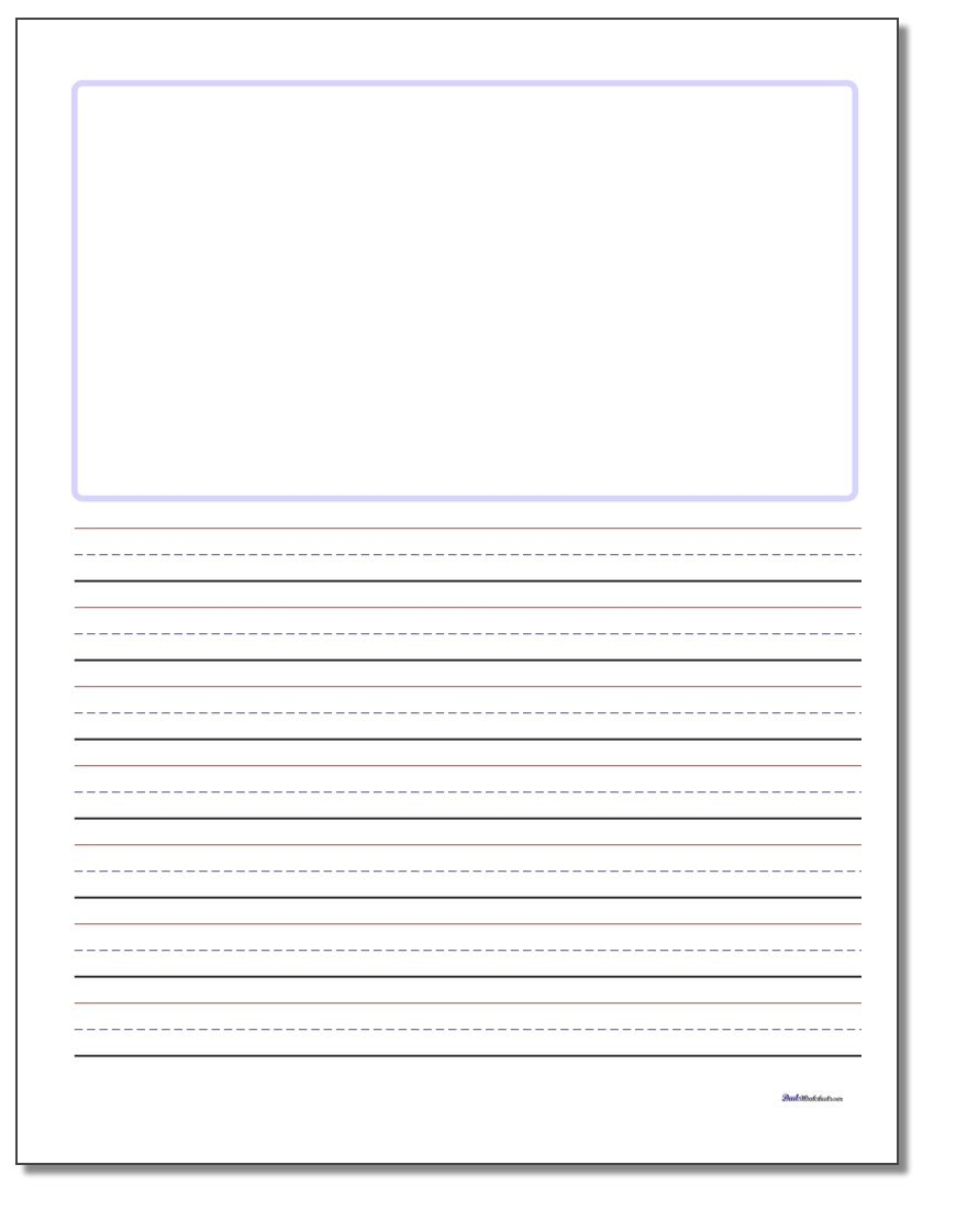 Worksheet Blank Handwriting : Blank top handwriting paper