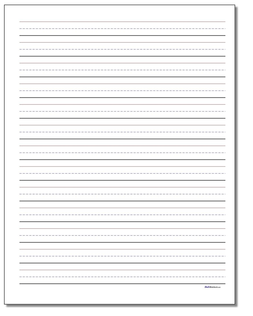 image relating to Free Printable Lined Writing Paper identified as Handwriting Paper