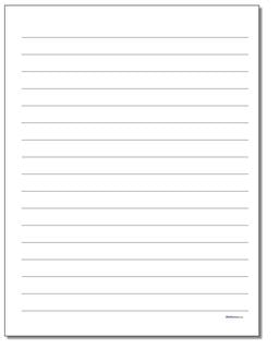 Lined Three Eighths Inch Handwriting Paper