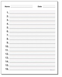 Kindergarten Worksheets Handwriting Paper