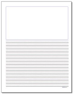 Handwriting Paper Blank Top Quarter Inch Rule
