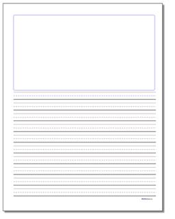 Handwriting Paper Blank Top Three Eighths Inch Rule