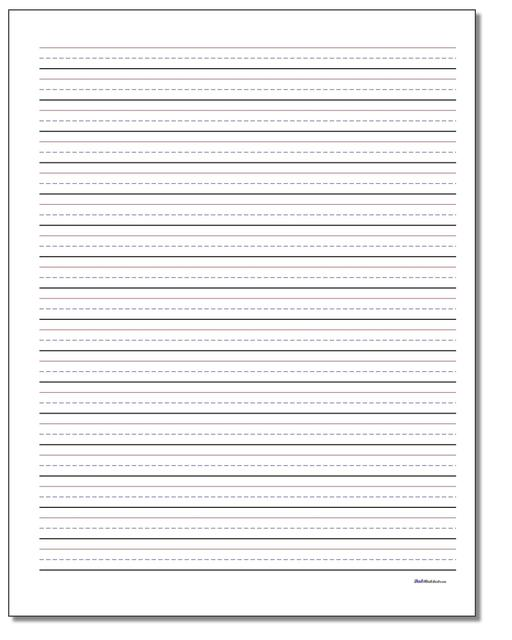 Printable Handwriting Paper