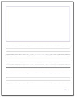 Handwriting Paper Blank Top Three Quarter Inch Rule