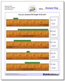 Measure Inches All Lengths, All Starts 1 Worksheet