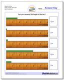 Measure Inches Eighth Lengths, Zero Start Worksheet
