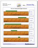 Measure Inches Quarter Lengths, Quarter Start www.dadsworksheets.com/worksheets/inches-measurement.html Worksheet