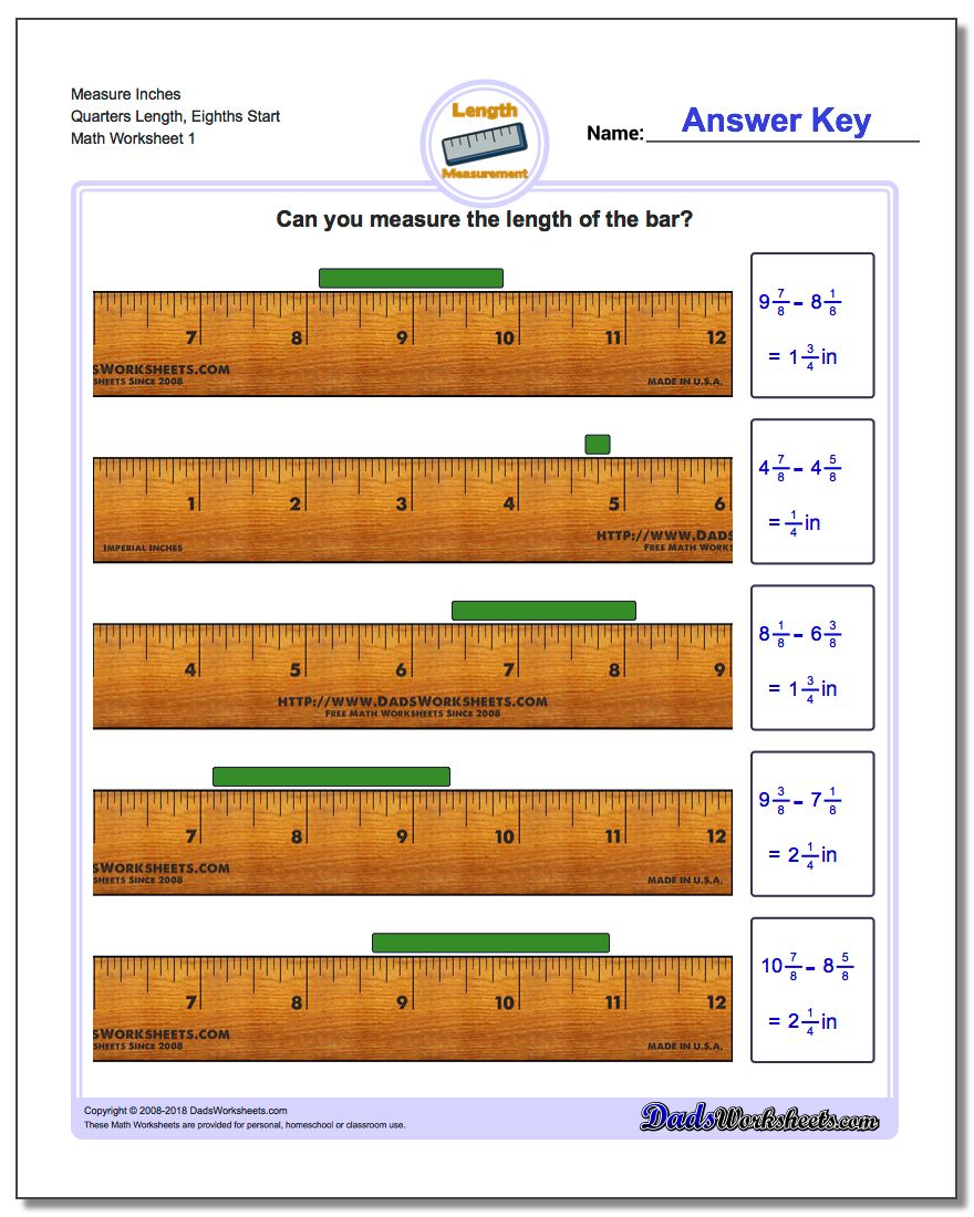 worksheet Ruler Measurements Worksheets inches measurement 24 worksheets