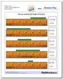 Measure Inches Quarters Length, Sixteenths Start www.dadsworksheets.com/worksheets/inches-measurement.html Worksheet