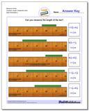 Measure Inches Quarters Length, Sixteenths Start Worksheet