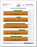 Measure Inches Sixteenths Lengths, Quarter Start www.dadsworksheets.com/worksheets/inches-measurement.html Worksheet
