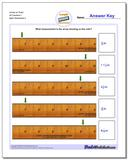 Inches on Ruler All Fraction Worksheets 1
