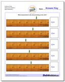 Inches on Ruler Halves and Quarters 2 www.dadsworksheets.com/worksheets/inches-measurement.html Worksheet