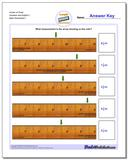 Inches on Ruler Quarters and Eighths 1 www.dadsworksheets.com/worksheets/inches-measurement.html Worksheet