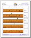 Inches on Ruler Sixteenths www.dadsworksheets.com/worksheets/inches-measurement.html Worksheet