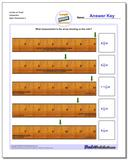Inches on Ruler Sixteenths Worksheet
