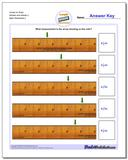 Inches on Ruler Wholes and Halves 2 www.dadsworksheets.com/worksheets/inches-measurement.html Worksheet