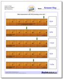Inches on Ruler Wholes and Halves 2 Worksheet