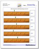 Inches on Ruler Wholes, Halves, Quarters www.dadsworksheets.com/worksheets/inches-measurement.html Worksheet