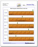 Mark Inches on Ruler All Fraction Worksheets 1 www.dadsworksheets.com/worksheets/inches-measurement.html
