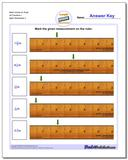 Mark Inches on Ruler All Fraction Worksheets 1