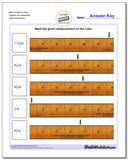 Mark Inches on Ruler Eighths and Sixteenths www.dadsworksheets.com/worksheets/inches-measurement.html Worksheet