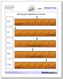 Mark Inches on Ruler Quarters and Eighths 1 www.dadsworksheets.com/worksheets/inches-measurement.html Worksheet