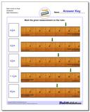 Mark Inches on Ruler Sixteenths www.dadsworksheets.com/worksheets/inches-measurement.html Worksheet