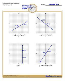 Graph Point Slope Form Worksheet