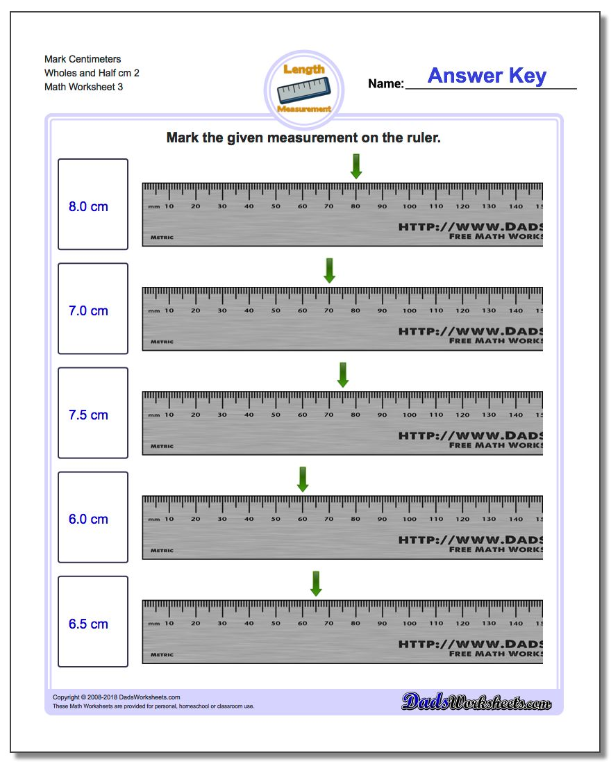 Mark The Ruler In Metric