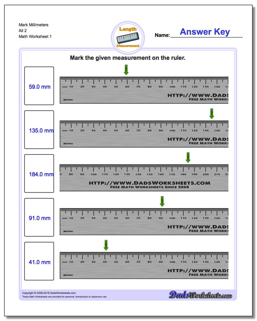 Uncategorized Ruler Worksheets mark the ruler millimeters all 2 metric measurement worksheet