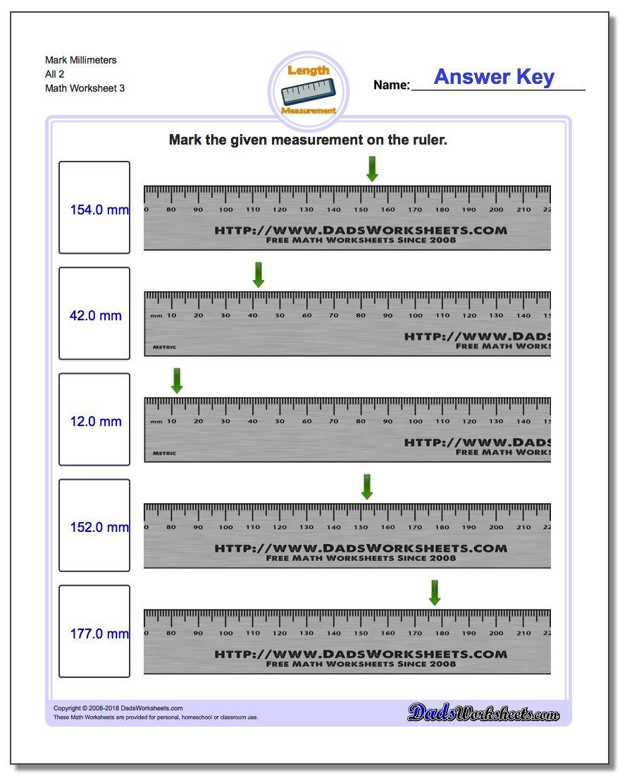 Mark Millimeters All 2 Worksheet