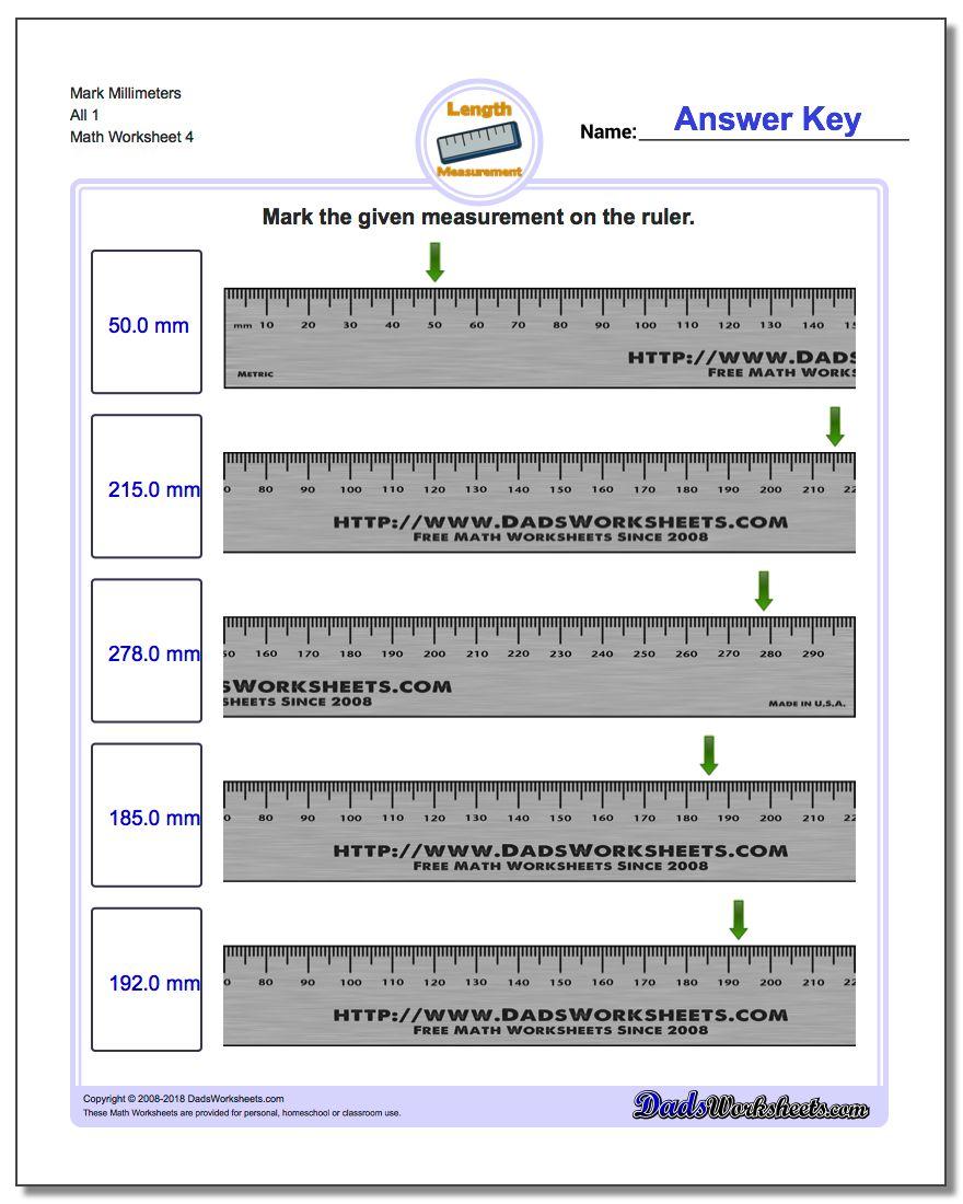 Mark Millimeters All 1 Worksheet