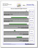 Measure Centimeter Tenth Lengths, Millimeter Starts 2 Worksheet