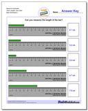 Measure Centimeter Tenth Lengths, Zero Start www.dadsworksheets.com/worksheets/metric-measurement.html Worksheet