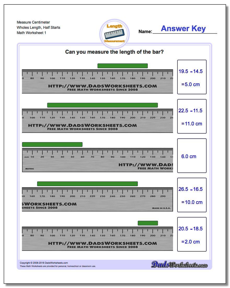 Metric Measurement – Ruler Worksheets