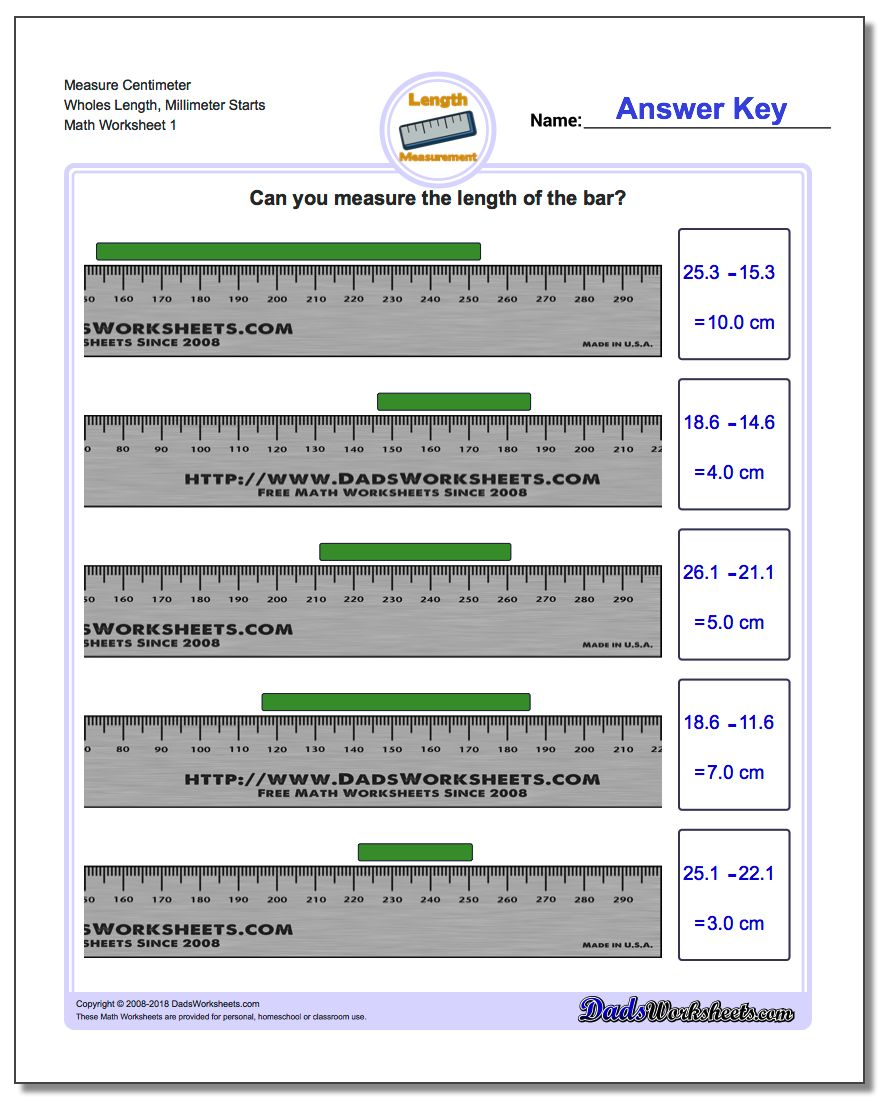 Metric Measurement – Metrics and Measurement Worksheet