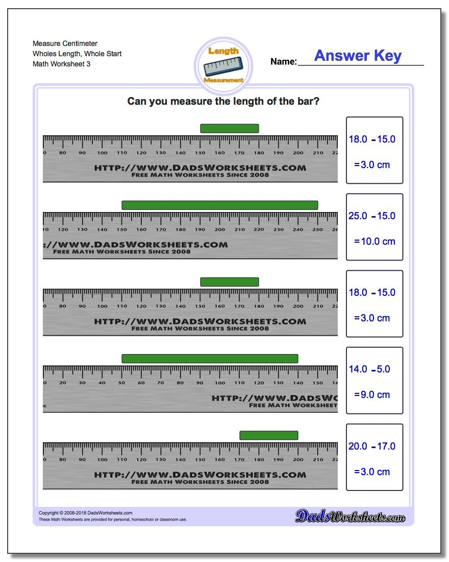 Measure Centimeters From Wholes