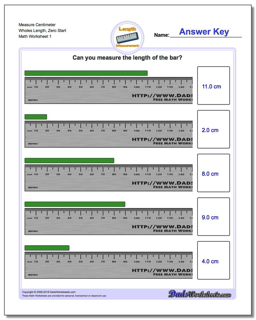Metric Measurement – Measuring Worksheets for 2nd Grade