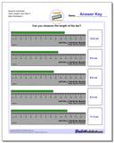 Measure Centimeter Tenth Lengths, Zero Start 2 www.dadsworksheets.com/worksheets/metric-measurement.html Worksheet