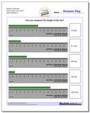 Measure Centimeter Tenth Lengths, Zero Start 2 Worksheet
