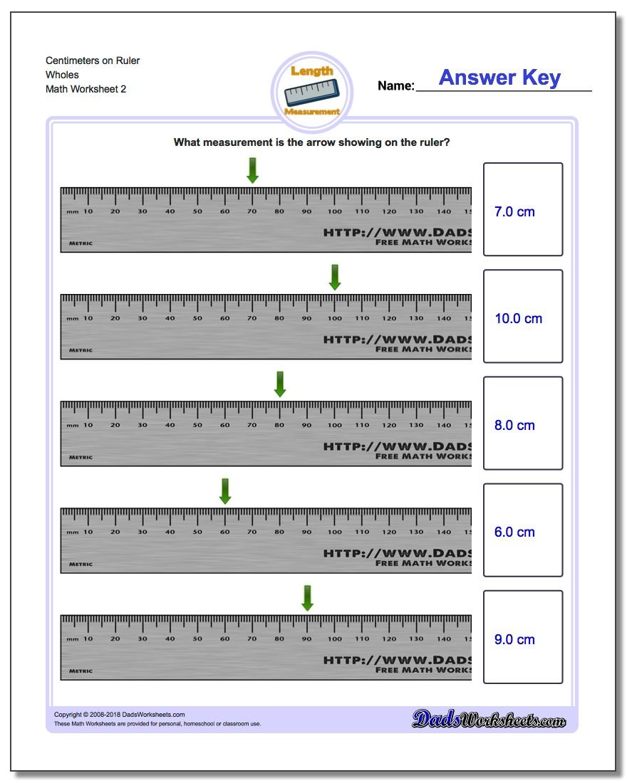 Centimeters On Ruler