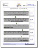 Centimeters on Ruler Tenths 3 Worksheet